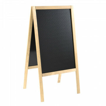 a-standaard met krijtbord finish licht en waterproof gemaakt, naturel hout, 4 x 61 x 118 cm