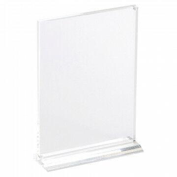 superhandige kaartstandaard staat stevig, met voet en sluit magnetisch, transparant acrylaat, A6, 14.8 x 10.5 cm