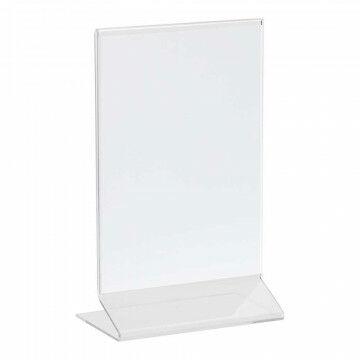 menustandaard budget voordelige basic standaard, transparant acrylaat, A6, 10.5 x 15 cm
