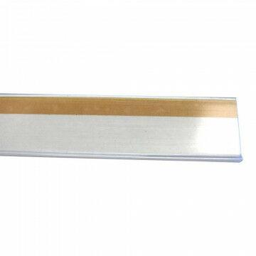 Prijskaartrail zelfklevend, bevestiging tegen schap, transparant kunststof, 100 cm