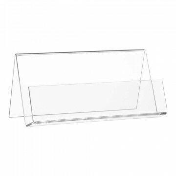 Folderstandaard liggend, A4, gevouwen, transparant kunststof, A4, 30 x 21 cm