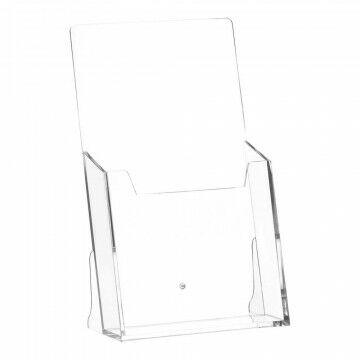 Folderstandaard Grootverpakking, transparant kunststof, A6, 11 x 18.4 cm