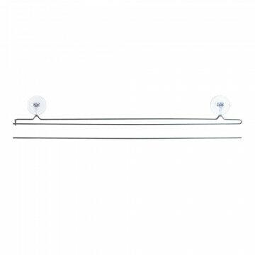 Hanger 'Smartpin' set boven/onder, grijs metaal, 100 cm