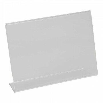 showcardstandaard liggend, schuin, transparant kunststof, A6, 15 x 10.5 cm
