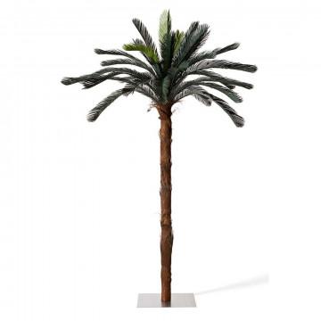 palmboom cycas, groen kunststof, 225 cm