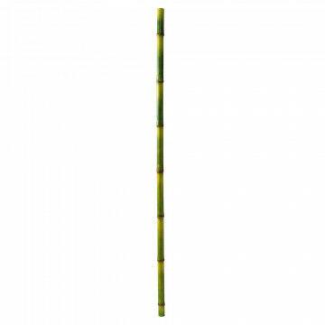 bamboe stok 2 delig, groen kunststof, 230 x 5 cm