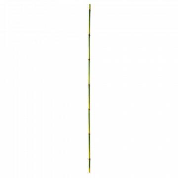 bamboe stok 2 delig, groen kunststof, 230 x 2 cm