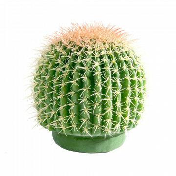 bolcactus, groen kunststof, 21 cm