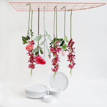 Bloemenrekje met rood/roze combinatie