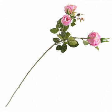 kunstbloem rozentak, insteker met veel bloemen en knoppen, roze zijde, 60 cm