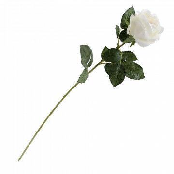 kunstbloem roos, met gekleurd binnenhart, creme zijde, 70 cm