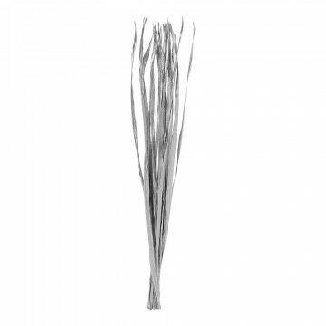 Olifantsgras geglitterd, zilver natuur, 140 cm
