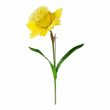 narcis xl met steel m/buigbare kern, bloemkop Ø55cm, geel kunststof, 120 x 55 cm