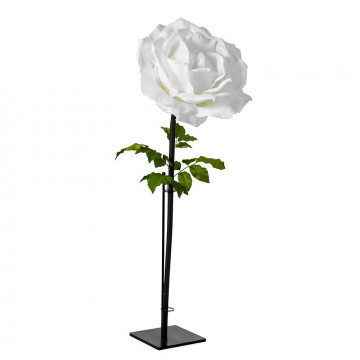 Roos 'Jane' inclusief bevestigingsmogelijkheid voor de wand, wit kunststof, 160 x 65 cm