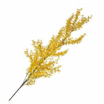 forsythia paastak, met kunstbloemen, goede decoratie bij pasen, voorjaar en lammetjes, geel zijde, 220 x 80 cm
