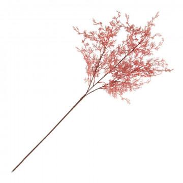 tak roosmarijn, decoratieve kunsttak, met metaaldraad, roze kunststof, 68 cm