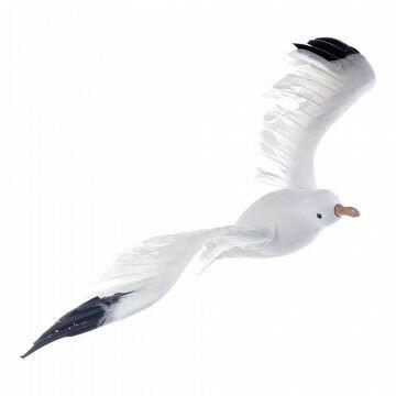 Meeuw vliegend, met ophangoog, wit natuur, 35 x 75 cm