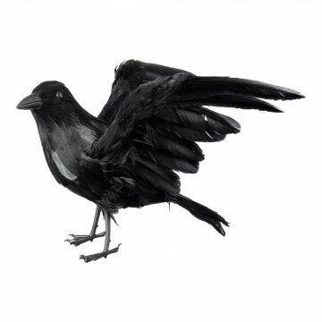 Kraai vliegend, zwart natuur, 40 x 30 cm