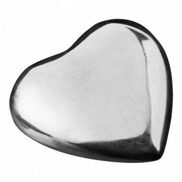 Strooihartjes aluminium, zilver metaal, 4.5 cm