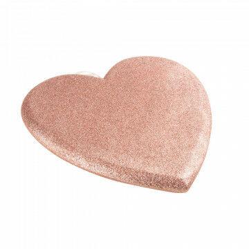 hart met glitters, lichtgewicht, voor moederdag of alle andere liefdevolle dagen, roze kunststof, 37 x 39 cm