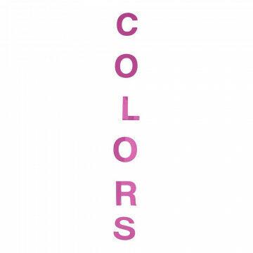 Guirlande Tekst 'colours', roze kunststof, 140 cm