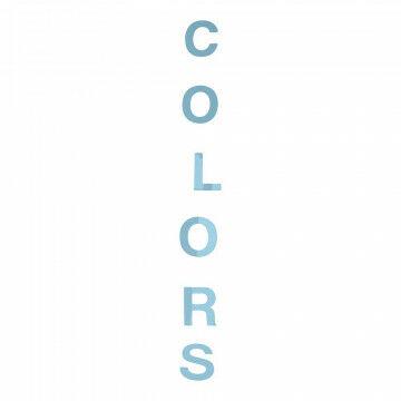 Guirlande Tekst 'colours', blauw kunststof, 140 cm