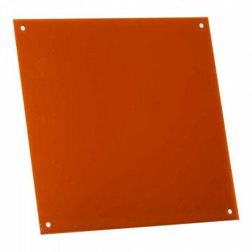Paneel acrylaat met 4 koppelgaten, bruin kunststof, 30 x 30 cm