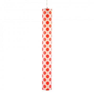 Cilinder lamp 'Dots' knockdown, met verlichtingsnoer, multi kunststof, 12 x 100 cm