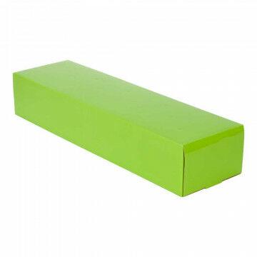 Bloemendoos, groen papier, 55 x 14.5 x 9.5 cm