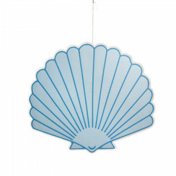 schelp jacob xxl, lichtgewicht, incl. ophanglint, 2-zijdig, decoratief voor horeca, blauw dacron, 110 x 98 cm