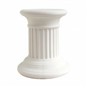 zuil olympus small, uv- en hittebestendig, recyclebaar polyethyleen, creme kunststof, 36 x 36 x 40 cm