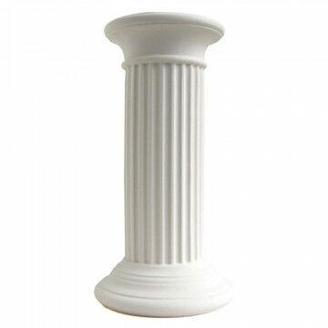 zuil olympus medium, uv- en hittebestendig, recyclebaar polyethyleen, creme kunststof, 36 x 36 x 69 cm
