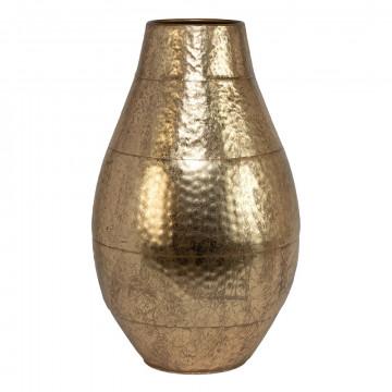 vaas metaal met verzwaarde bodem, goud metaal, 66 x 40.5 cm