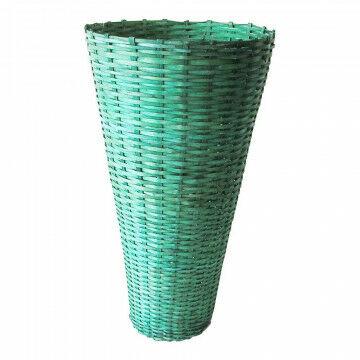 Vaasmand gevlochten, groen natuur, 60 x 35 cm