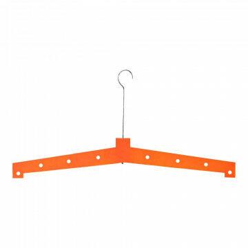 Kledinghanger XXL met metalen haak, oranje hout, 100 cm