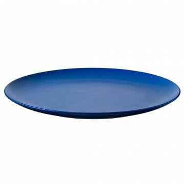 Schaal 'Plat', blauw hout, 5 x 65 cm