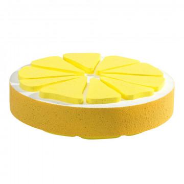 mega schijf citroen lichtgewicht en met handig ophangoogje, geel kunststof, 30 x 30 x 5 cm