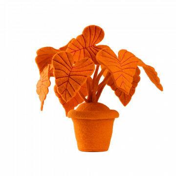 vilten plant oreja, in vrolijke kleuren vormbaar door metaaldraad, 1.090 gr. staat stevig, oranje vilt, 40 x 40 x 40 cm