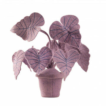 vilten plant oreja, finish geheel vilt staat stevig door gewicht van 1.100 gram, paars vilt, 40 x 40 x 40 cm