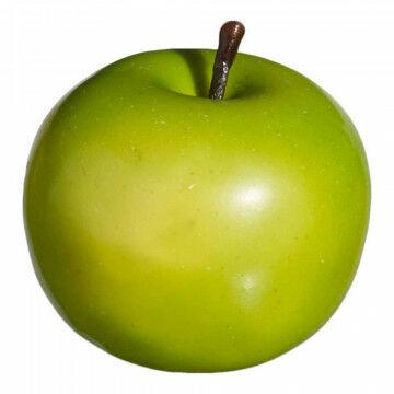 appels 'granny' met een papiermaché finish voor realistische look, groen kunststof, 7 cm
