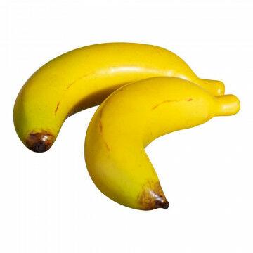 Bananen Mini, geel kunststof, 10 cm