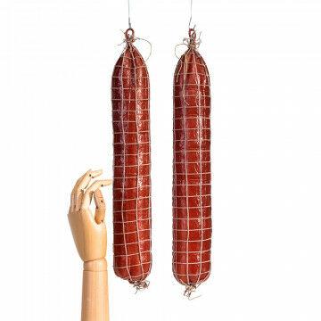 salami worsten, rood kunststof, 45 x 6.5 cm