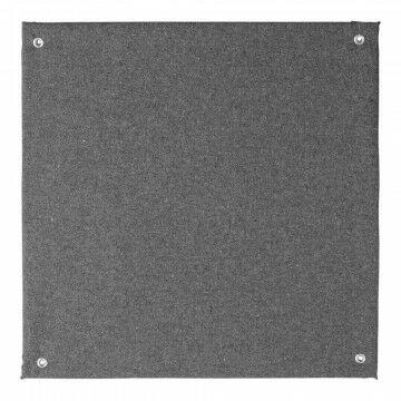 Paneel stof met 4 ophangogen doorkoppelbaar, grijs textiel, 30 x 30 cm