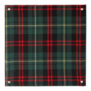 panelen stof met 4 ophangogen doorkoppelbaar, groen textiel, 30 x 30 cm