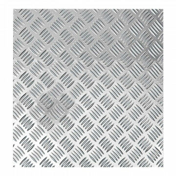 Traanplaat 'Imitatie', zilver kunststof, 90 x 50 cm