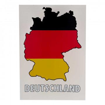 Kaart silhouet Duitsland, multi kunststof, 100 x 70 cm