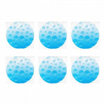Raamfolie 'Druppel' transparant lichtblauw, statisch hechtend, blauw kunststof, 30 cm
