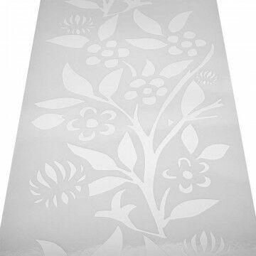 Raamfolie 'Lady Flower' statisch hechtend, wit kunststof, 98 x 22 cm