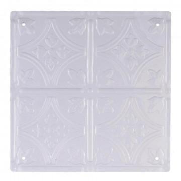 paneel tegel met 4 gaatjes, wit kunststof, 30 x 30 cm