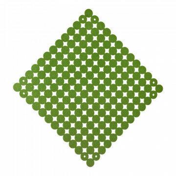 Paneel vilt koppelbaar, groen textiel, 38 x 38 cm